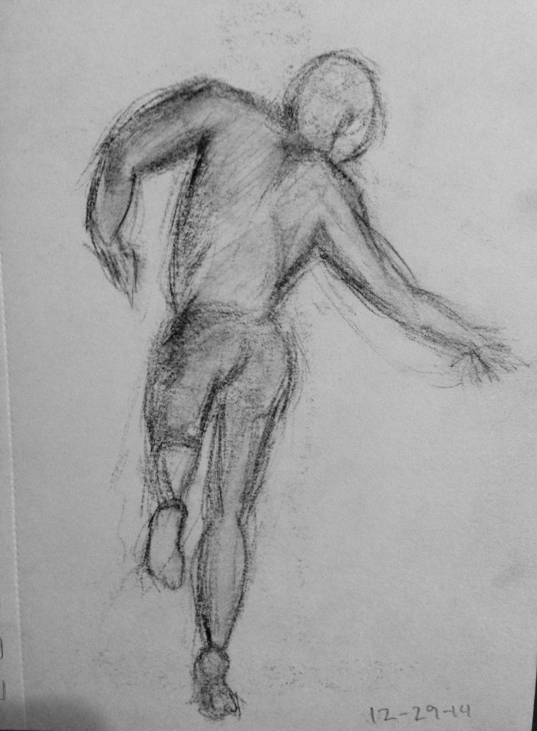 sketch reaching