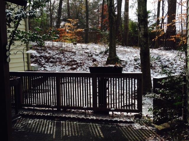 condo morning snow