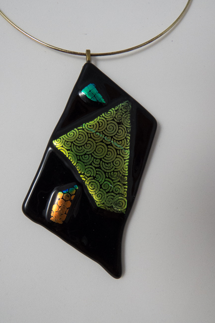 Impulse - Necklace pendant 2.5 by 4 inches