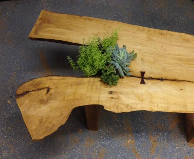 wood bench Amanda