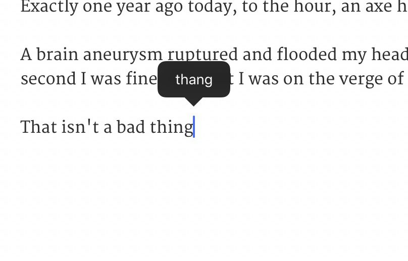"Yes, ""thing"" is an actual word"