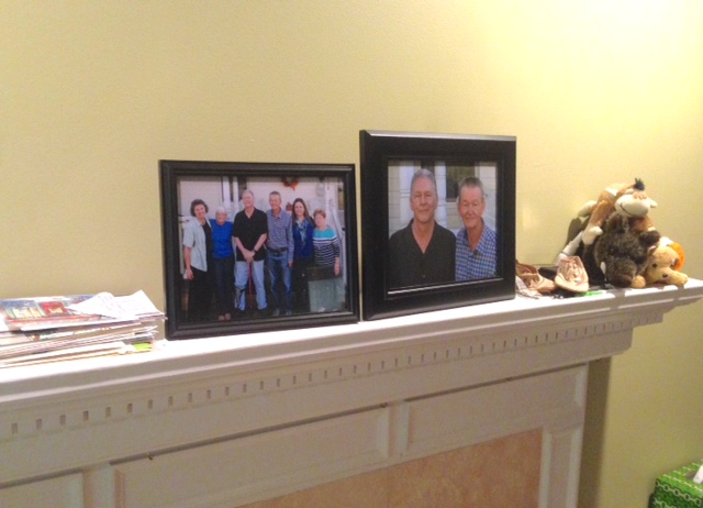 Pictures on the mantel